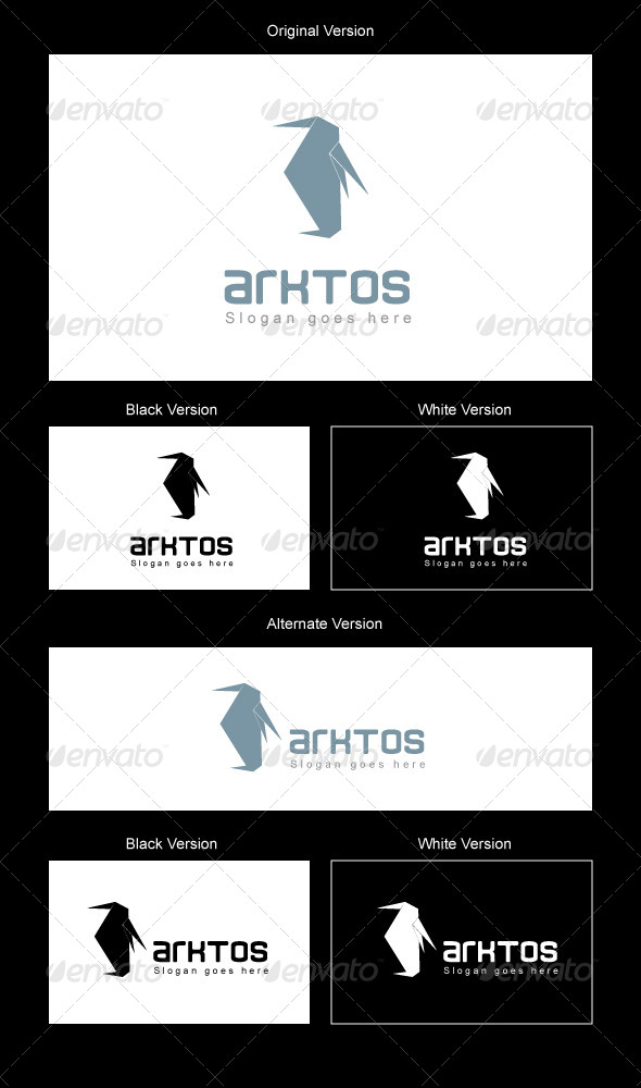 Arktos Logo Design - Animals Logo Templates