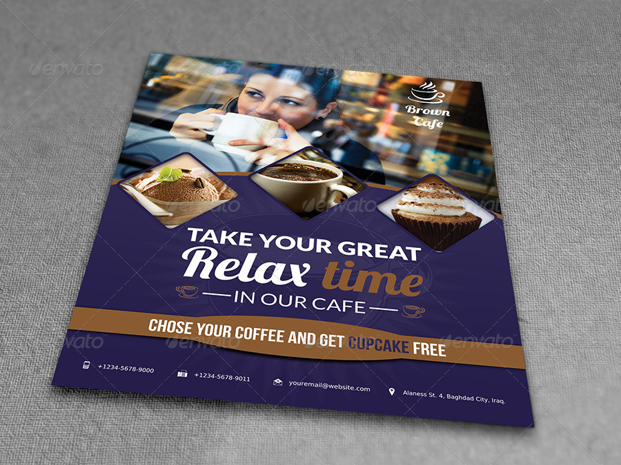 Cafe Restaurant Flyer Template Vol2 By Owpictures Graphicriver