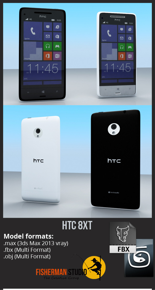 HTC 8XT - 3DOcean Item for Sale
