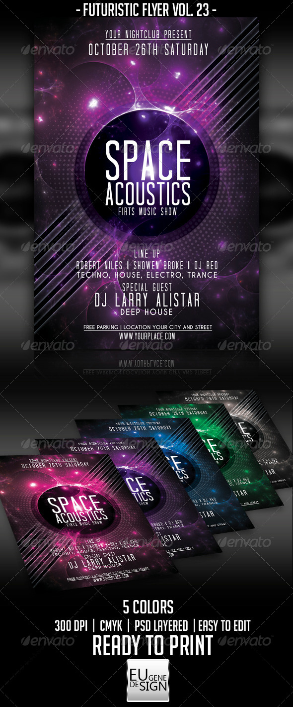 Futuristic Flyer Vol. 23 - Clubs & Parties Events