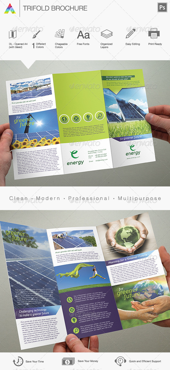 Multipurpose Trifold Brochure - Print Templates