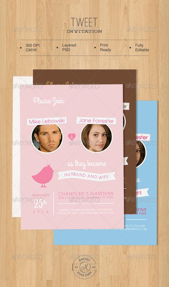 Tweet Invitation - Weddings Cards & Invites