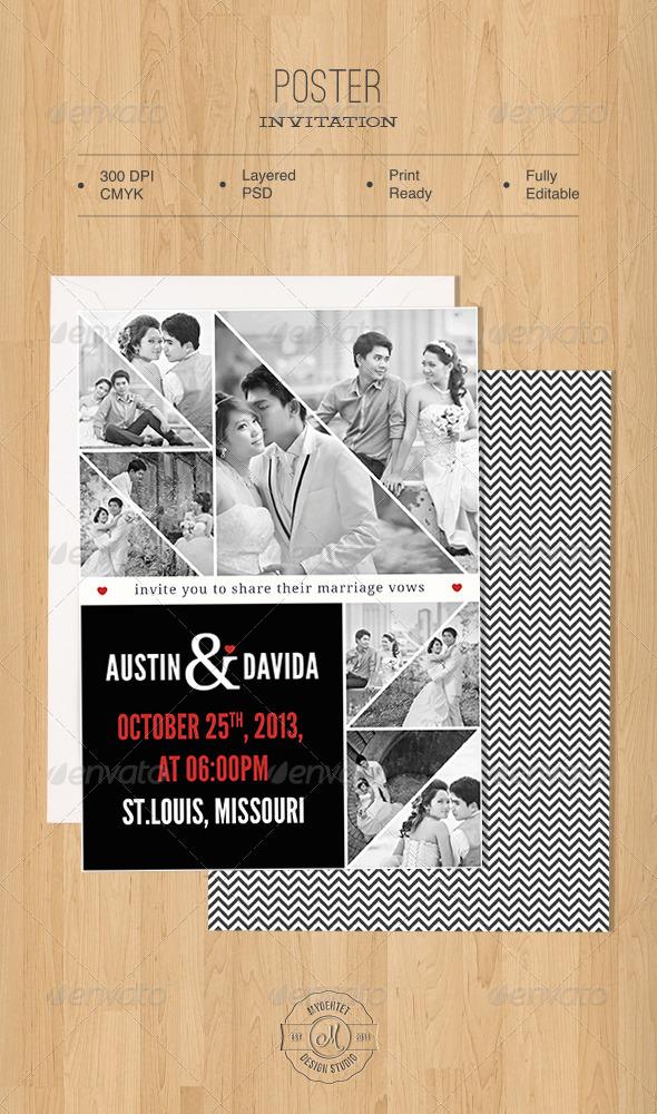 Poster Invitation - Weddings Cards & Invites