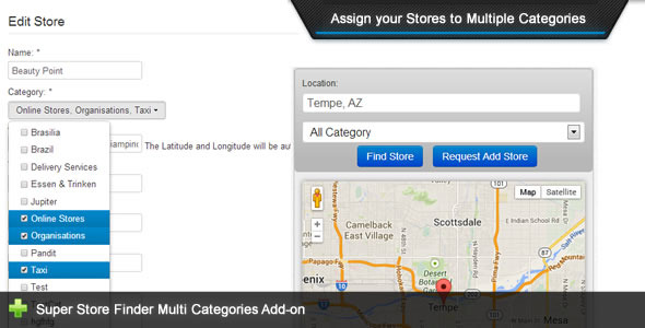 Super Store Finder - Multi Categories Add-on - CodeCanyon Item for Sale