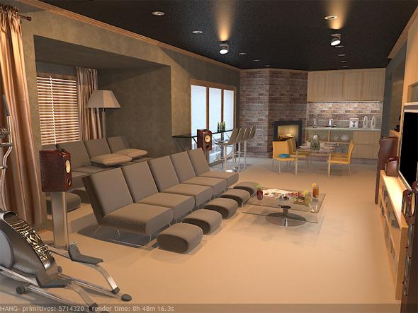 Interior / Basement - 3DOcean Item for Sale