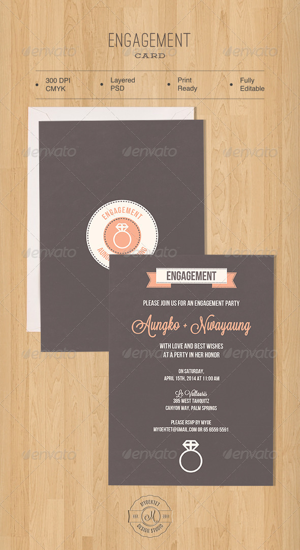 Engagement Card - Weddings Cards & Invites