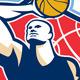 Basketball Player Rebounding Ball Retro - GraphicRiver Item for Sale