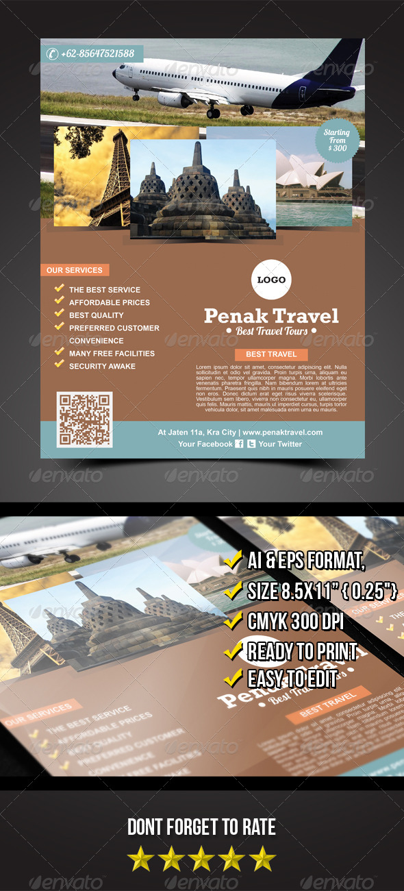 Penak Travel Flyer - Corporate Flyers