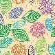 Colorful Seamless Pattern of Flowers, Leaves - GraphicRiver Item for Sale