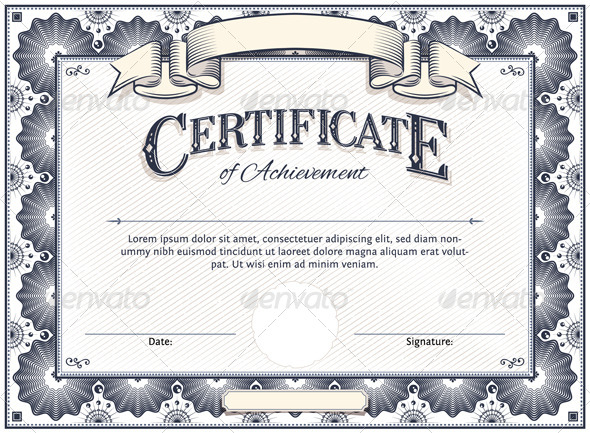 Certificate template by aivectors graphicriver certificate template borders decorative yelopaper Choice Image