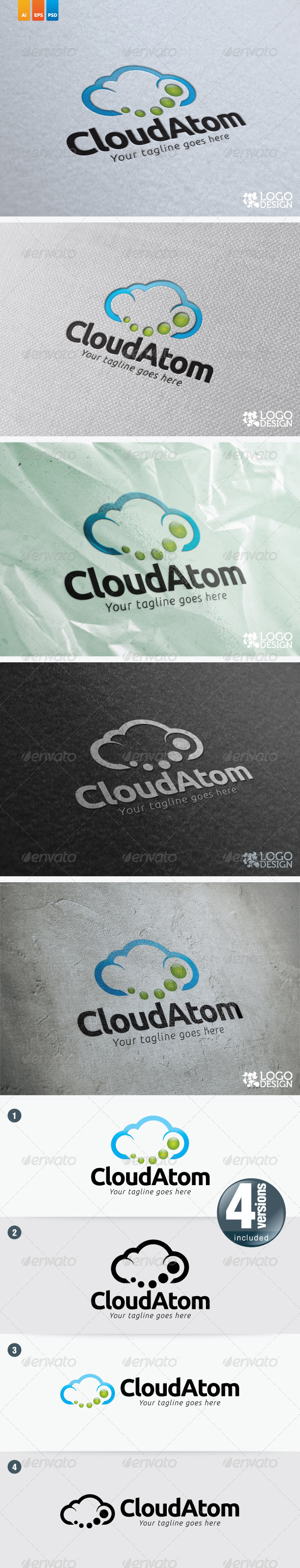 Cloud Atom - Symbols Logo Templates
