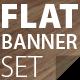 Flat Banner Set