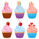 Set of Six Cupcakes - GraphicRiver Item for Sale