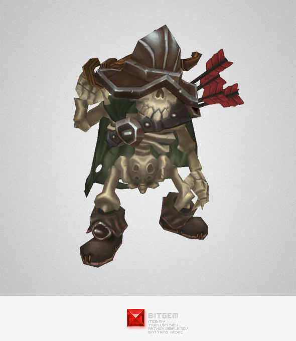 Low Poly Skeleton Archer - 3DOcean Item for Sale
