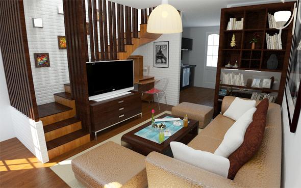 Interior / Living - 3DOcean Item for Sale