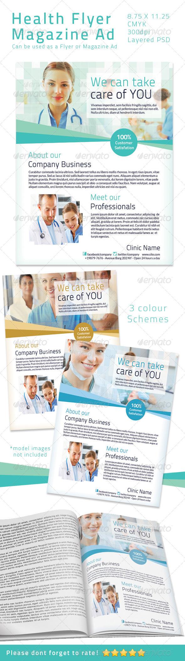 Health Flyer/ Magazine Ad  - Print Templates