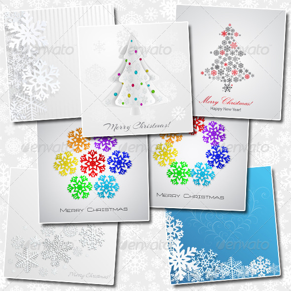 Set of Christmas Backgrounds - Christmas Seasons/Holidays