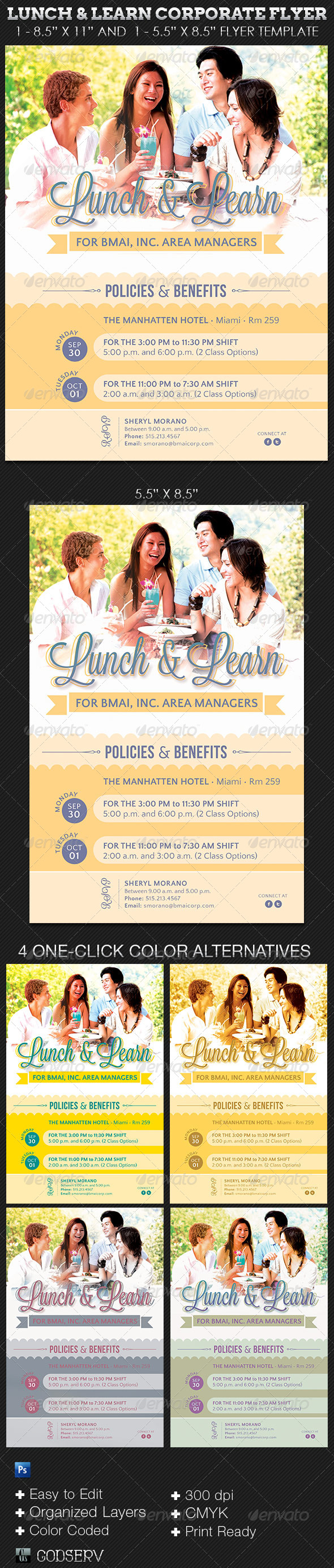 Lunch Learn Corporate Flyer Template - Corporate Flyers