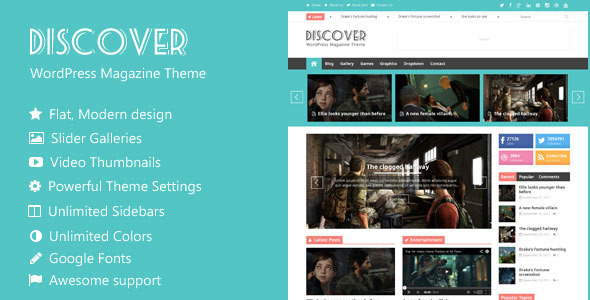 Discover – Flat WordPress Magazine Theme