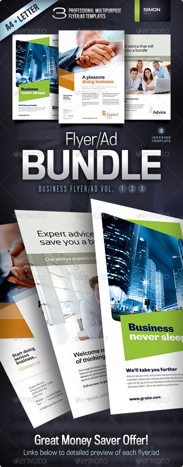 Business Flyer/Ad Bundle Vol. 1-2-3 - Corporate Flyers