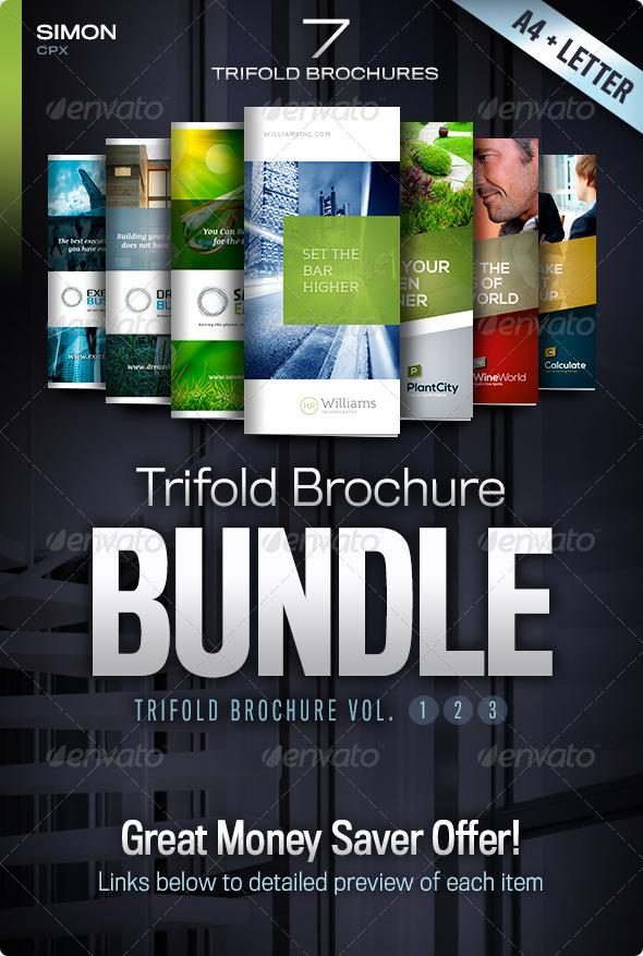 Trifold Brochure Bundle Vol. 1-2-3 - Corporate Brochures