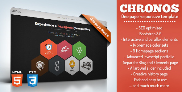 Chronos – One Page Responsive Template
