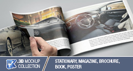 Product Mockup - Stationary, newspaper, magazine, bookstore, book, brochure & outdoor billboard
