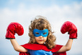 Superhero kid. Girl power concept - PhotoDune Item for Sale
