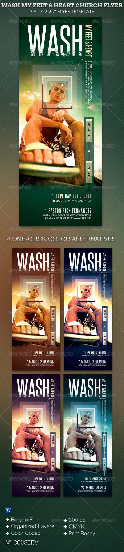 Wash Church Flyer Template - Church Flyers