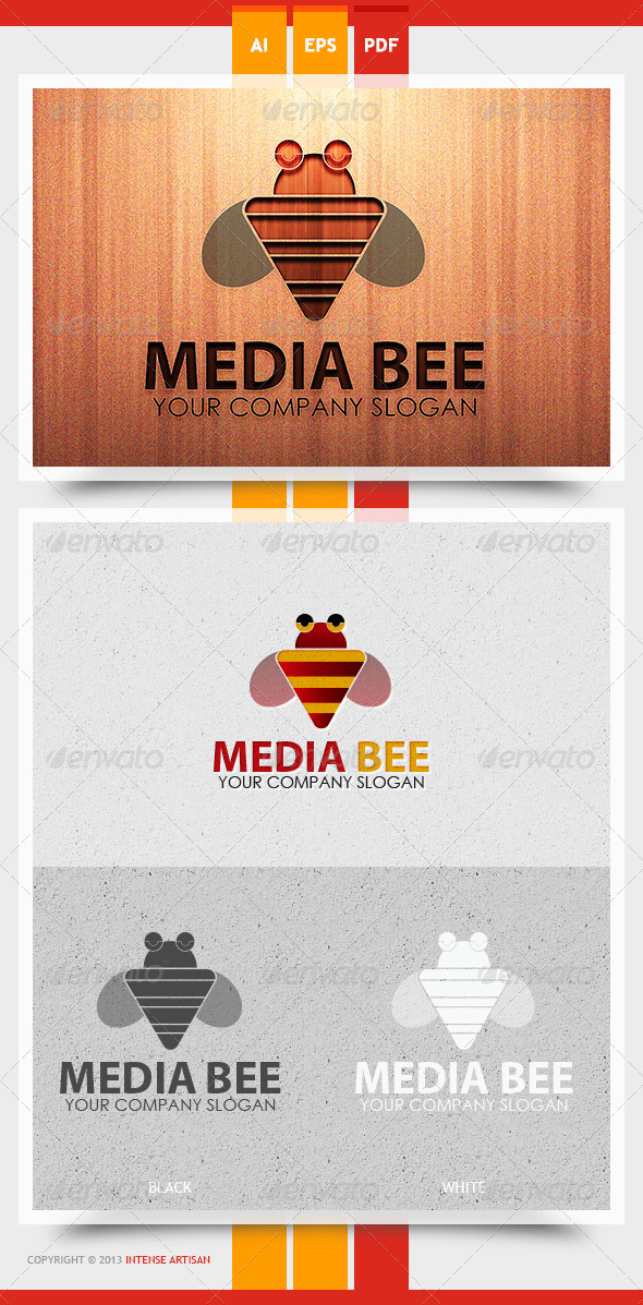 Media Bee Logo Template - Animals Logo Templates