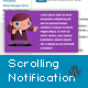 Responsive Scrolling Notification WordPress Plugin