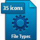 35 File Types Icons - GraphicRiver Item for Sale