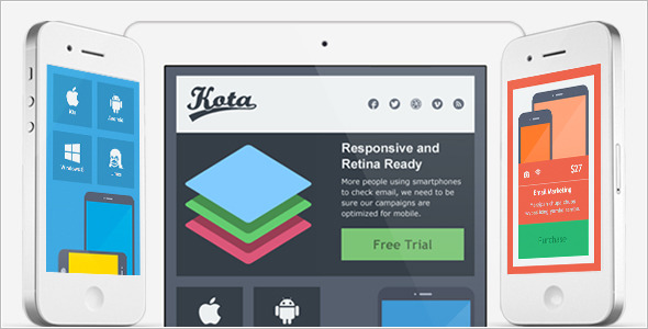 Kota - Responsive and Retina Ready Email Template