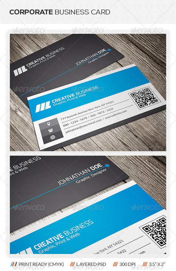 QR Code Business Card by mengloong | GraphicRiver