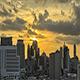 Orange Sunset over City Skyline - VideoHive Item for Sale