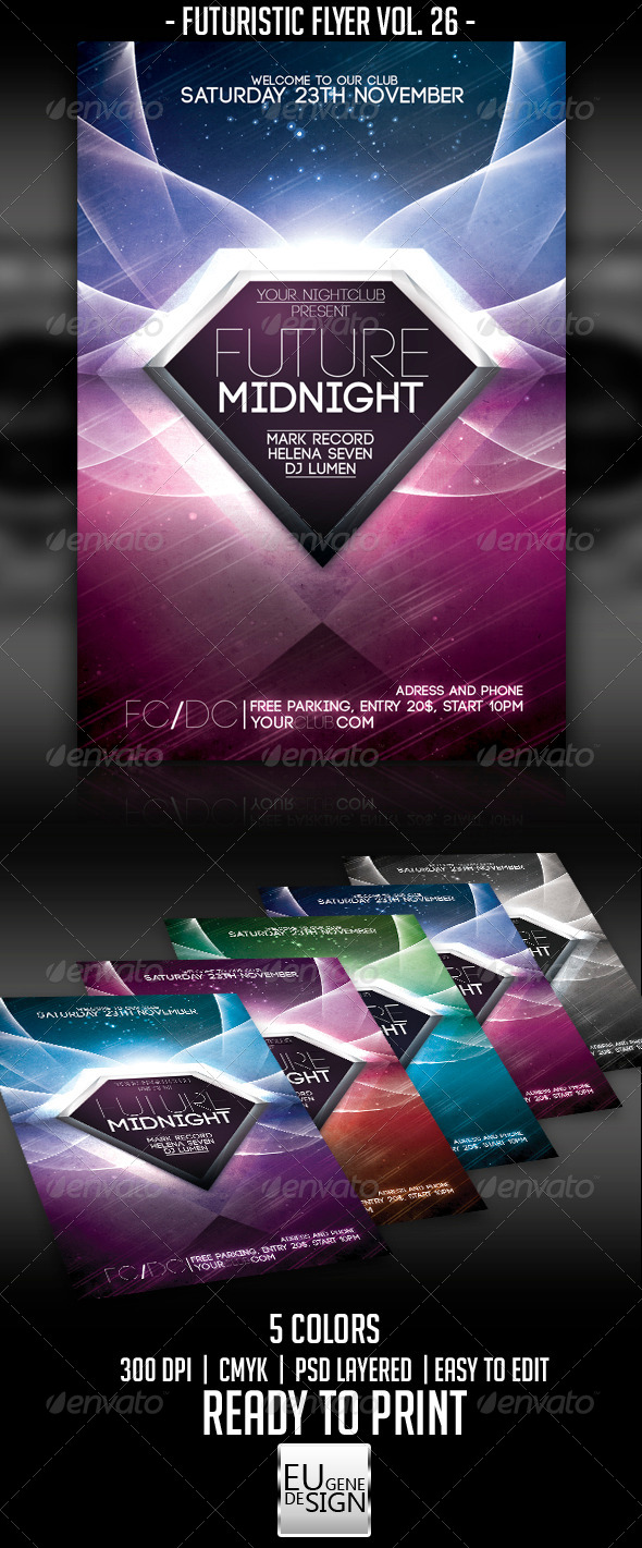 Futuristic Flyer Vol. 26 - Clubs & Parties Events