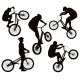 Biker Silhouettes Set - GraphicRiver Item for Sale