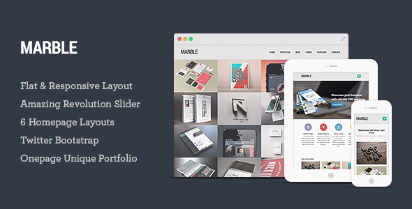 Marble - Flat Responsive HTML5 Template