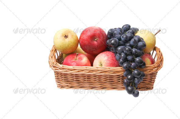 Ripe ,juicy fruit in the basket. - Stock Photo - Images