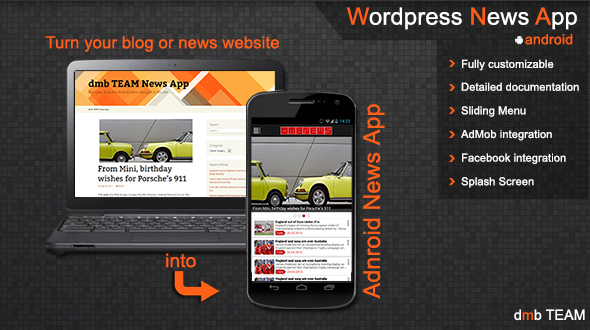 Wordpress News App - CodeCanyon Item for Sale