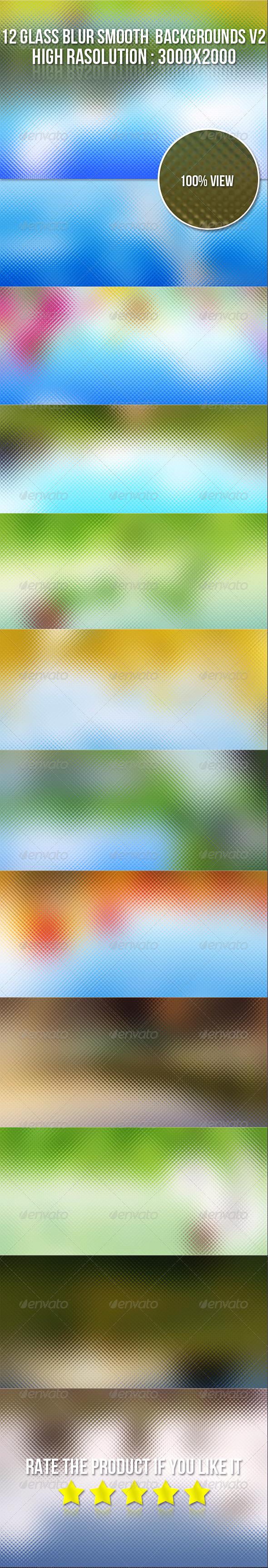 12 Glass Blur Backgrounds V2 - Backgrounds Graphics