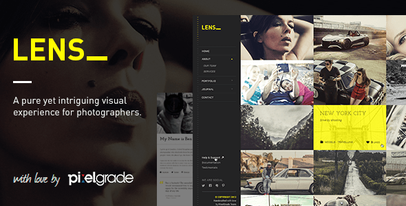 LENS - An Enjoyable Photography WordPress Theme - Photography Creative