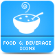 Food & Beverage Icons - GraphicRiver Item for Sale