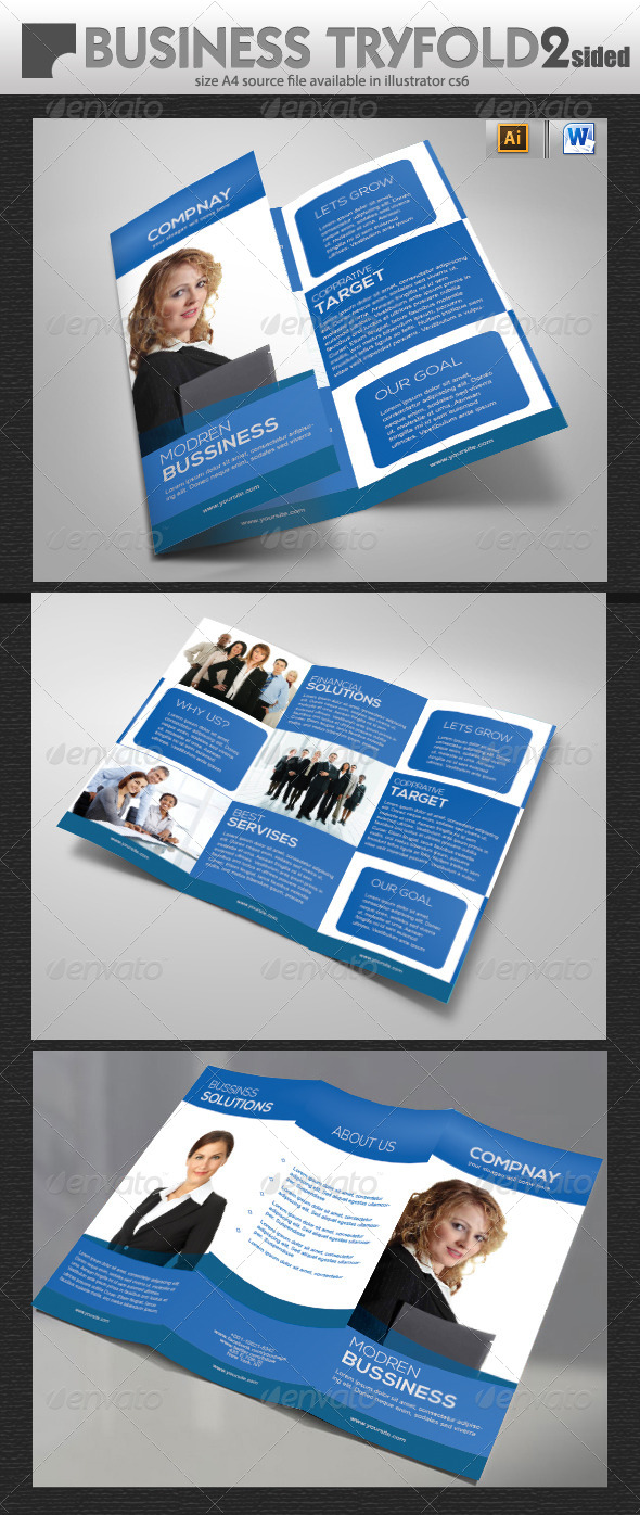 Consulting tri fold brochure design by designcrew for Consulting brochure template