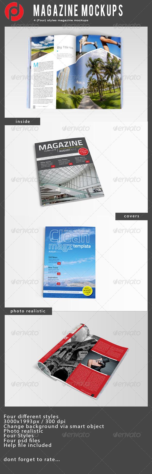 Magazine Mock-Ups - Magazines Print
