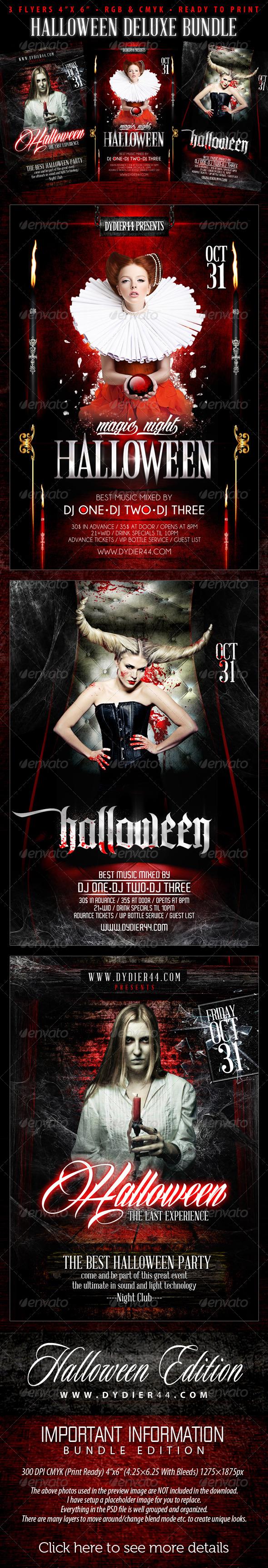 Halloween Deluxe Bundle (4x6 Flyer Template) by Dydier44 ...