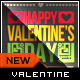 Valentine Card - So in Love Typography - GraphicRiver Item for Sale