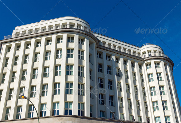 Beautiful restored building - Stock Photo - Images