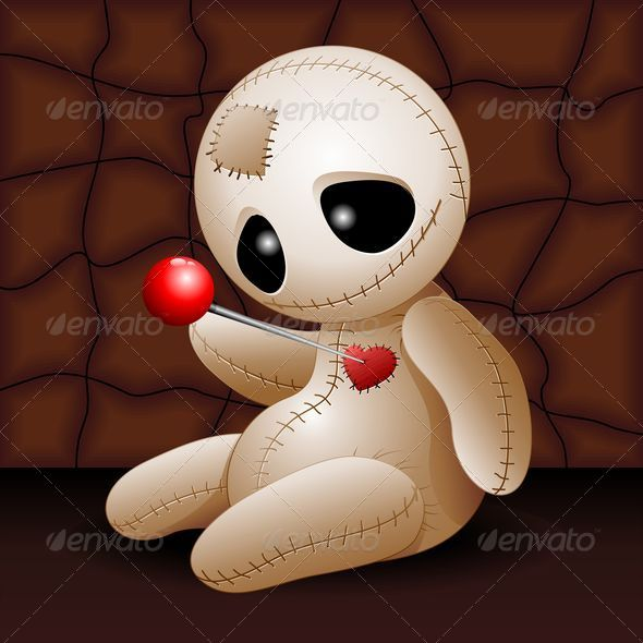 Voodoo Doll Cartoon In Love By Bluedarkat Graphicriver