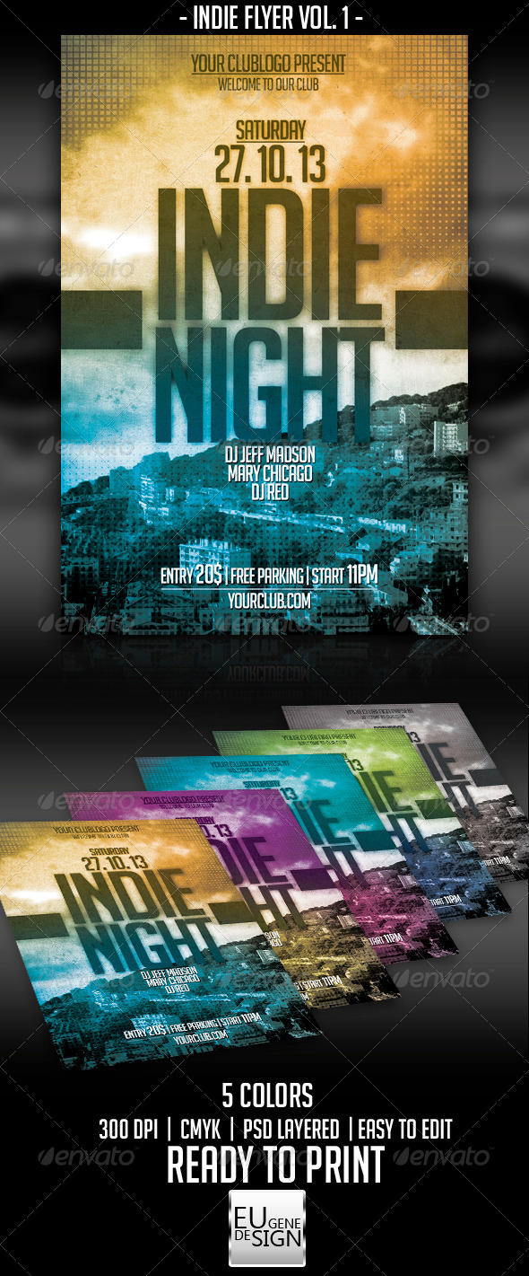 Indie Flyer Vol. 1 - Clubs & Parties Events